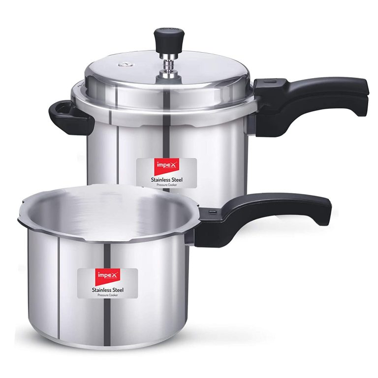 Amazon India : Impex IFC-35 Induction Base Aluminium Pressure Cooker Family Combo with Outer Lid (Set of 3 & 5 Litre)