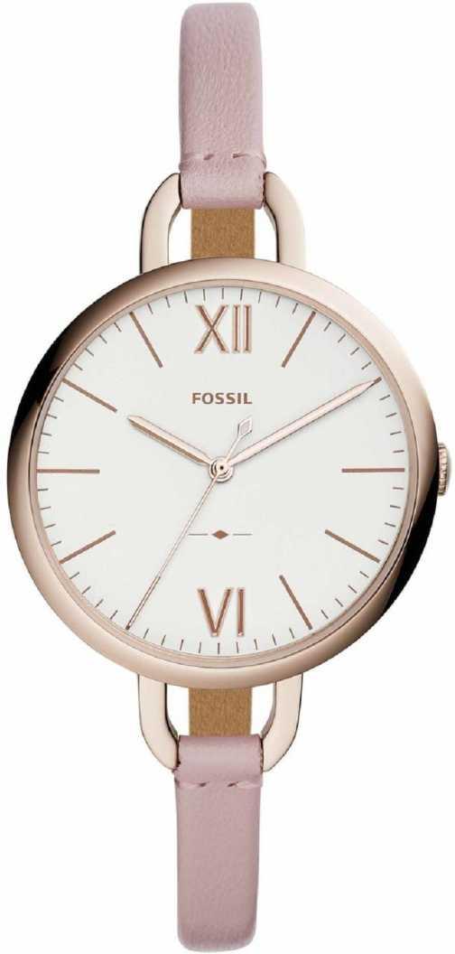 Flipkart : Fossil ES4356 Annette Three-Hand Pastel Pink Leather Watch Analog Watch - For Women
