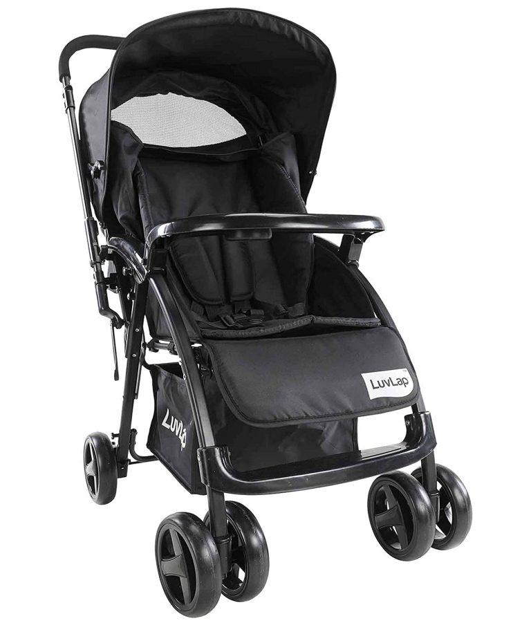 Amazon India : LuvLap Comfy Stroller/Pram, Easy Fold, for Newborn Baby/Kids, 0-3 Years