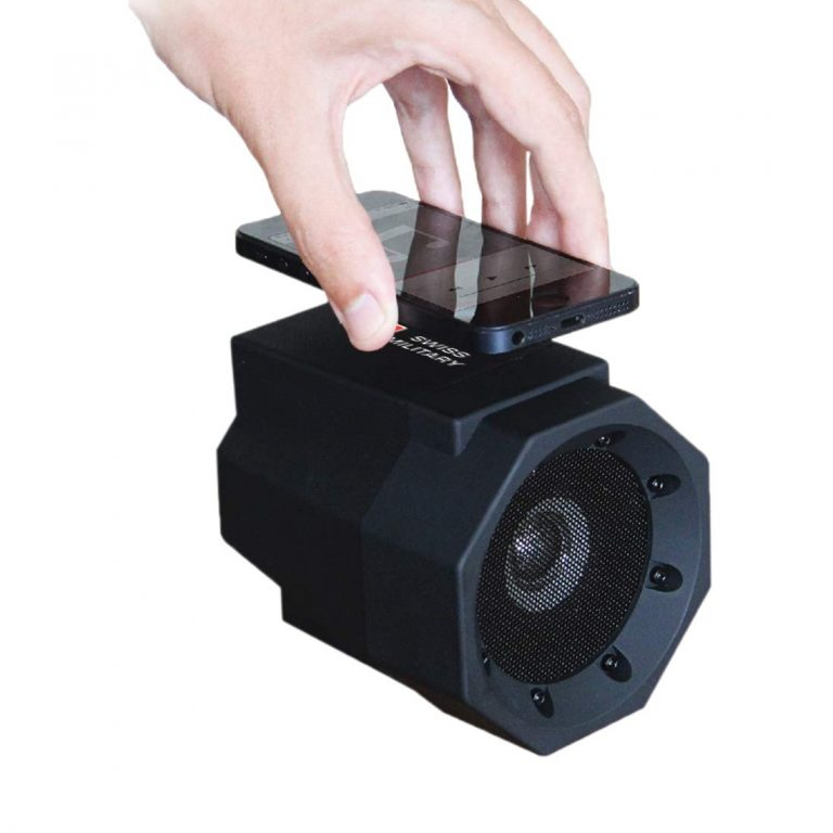 Amazon India : Swiss Military MUS3 Wireless Induction Speaker (Black)