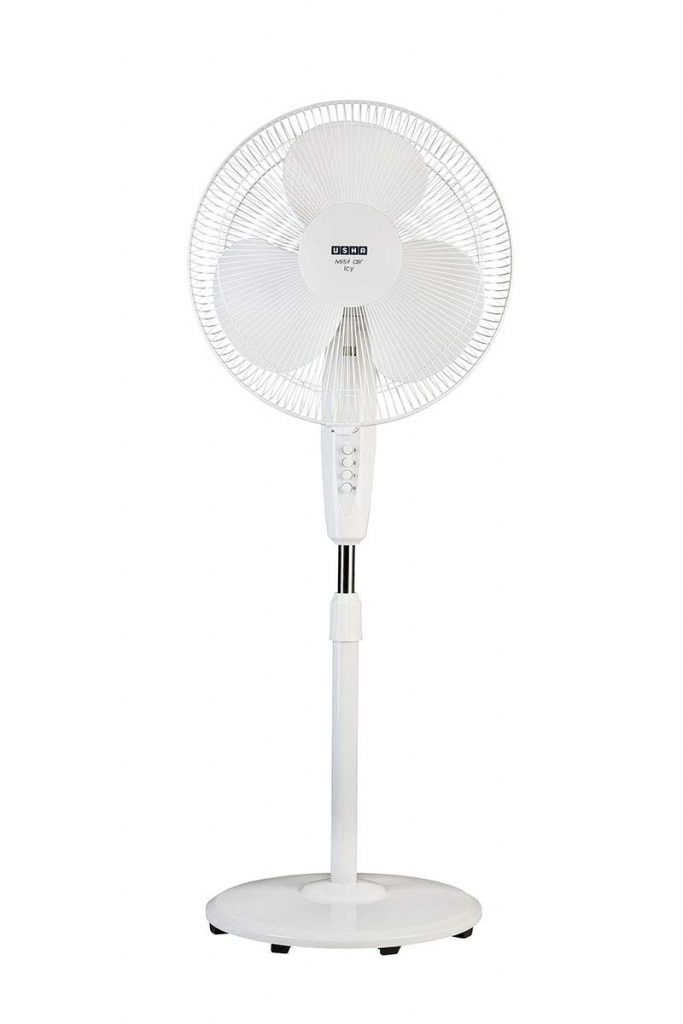 Amazon India : Usha Mist Air Icy 400mm Pedestal Fan (White)
