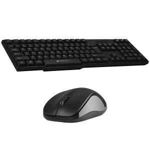 Amazon India : Zebronics Zeb-Companion 107 Wireless Keyboard and Mouse Combo with Nano Receiver (Black)