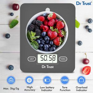 Amazon India : Dr Trust (USA) Electronic Kitchen Digital Scale Weighing Machine - 517 (Gray)