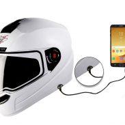 Amazon India : Steelbird SBA-1 7Wings HF Dashing Full Face Helmet with Plain Visor and Detachable Handsfree Device