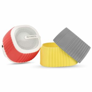 Amazon India : Amkette Trubeats Pixie Portable Mini Bluetooth Speaker with Mic and Multi Color Swappable Silicone Sleeves (White)