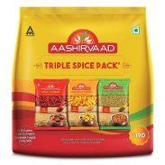 Amazon India : Aashirvaad Spices Combo Pack (Chilli, Turmeric, Coriander), 200g