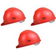 Amazon India : Allen Cooper Industrial Safety Helmet Red (Pack Of 3)