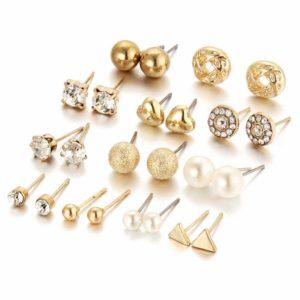 Amazon India : Jewels Galaxy Trendy 12 Pair of Stud Earrings