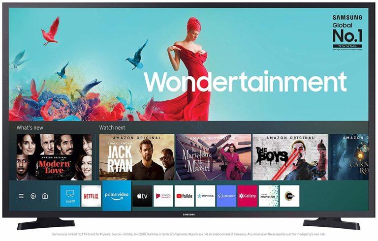 TataCliq : Samsung 108 cm (43 Inches) Smart Ultra HD 4K LED TV (2020 Model, Black)