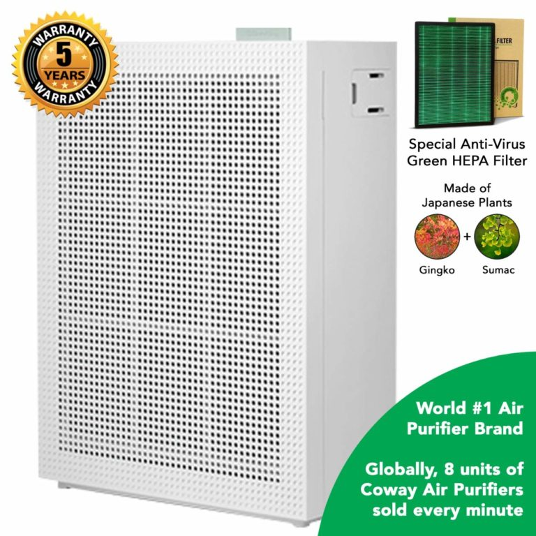 Amazon India : Coway Professional Air-Purifier, Special Green Anti-Virus True HEPA Filter