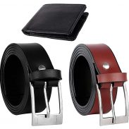 Amazon India : Combo of Black & Brown Belts With Black Wallet