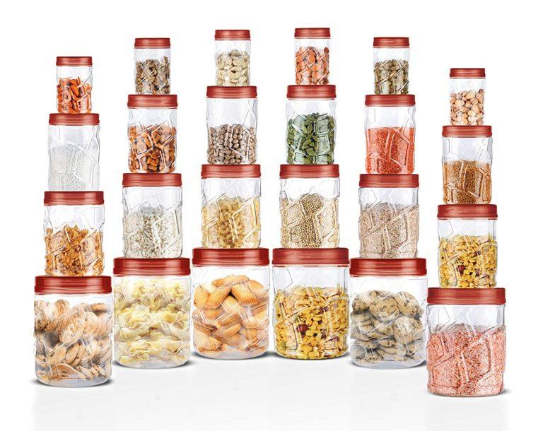 Amazon India : Milton Vitro Plastic Jar Set, 24- Pieces, Transparent
