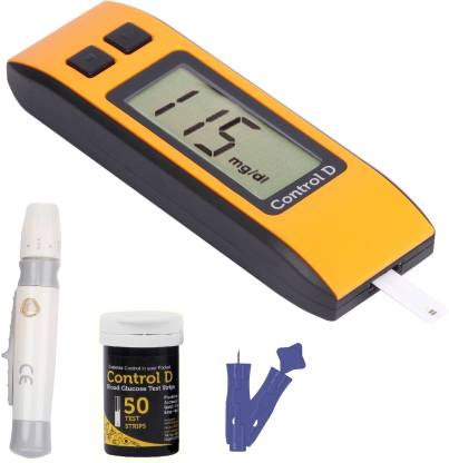 Flipkart : Control D Orange 50 Strips & Glucometer (Orange, Black)