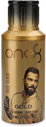 One8 By Virat Kohli No Gas Gold Deodorant 120 ml - Men Perfume Body Spray - For Men  (120 ml) at Rs.142