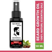 Flipkart : Qubic Beard Growth Oil for strong and healthy beard growth Hair Oil (50 ml) at Rs.99