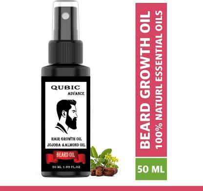 Flipkart : Qubic Beard Growth Oil for strong and healthy beard growth Hair Oil (50 ml) at Rs.99