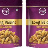 Granola 100% Natural Long Raisins (2 x 500 g) at Rs.314