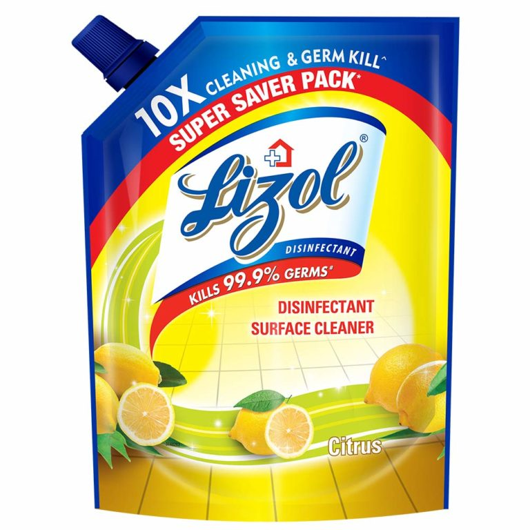 Amazon India : Lizol Disinfectant Floor Cleaner Refill Pack, Citrus - 1800 ml at Rs.255