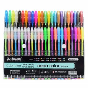 Amazon India : AmazDeal$ Gel Pens Set Color Gel Pens, Glitter, Metallic, Neon Pens Set (Highlighter Neon Pen, Set of 12)