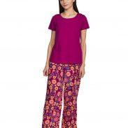 Amazon India : Myx Women's T-Shirt and Pajama Sleep Set Regular Top at Rs.199