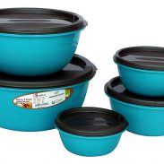 Princeware Store Fresh Plastic Bowl Package Container, Set of 5, Blue at Rs.159