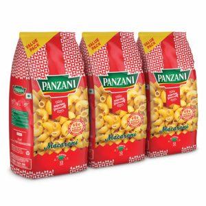 Amazon India : Panzani Express Macaroni Pasta, 3 x 400 g (Pack of 3)
