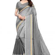 Amazon India : GoSriKi Women Saree with Blouse Piece at Rs.199