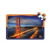 Webby Golden Gate Bridge Jigsaw Puzzle, 108 Pieces- Multicolour