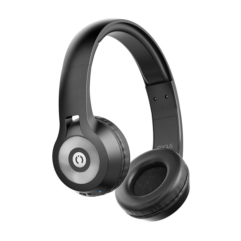 Amazon India : MuveAcoustics Focus Wireless Bluetooth On-Ear Headphones (Steel Black) at Rs.755