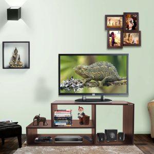 Amazon India : Klaxon Diamond Wooden TV Stand (Matte Finish, Walnut) at Rs.2203