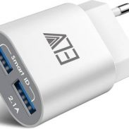 Flipkart : ELV 2 USB Port Auto Detect Technology Wall Travel Charger (White)