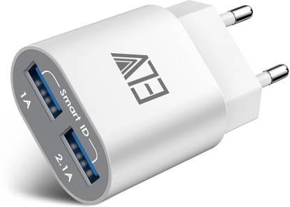 Flipkart : ELV 2 USB Port Auto Detect Technology Wall Travel Charger (White)