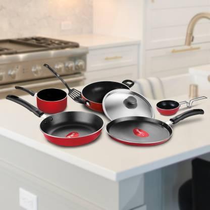 Pigeon Non- stick cookware- Favourite 7Pcs Gift set Cookware Set  (Aluminium, 7 - Piece) at Rs.1099