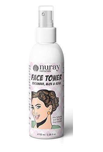 Nuray Naturals Vegan Face Toner With Chumber, Aloe and Rose, 100 ml at Rs.113