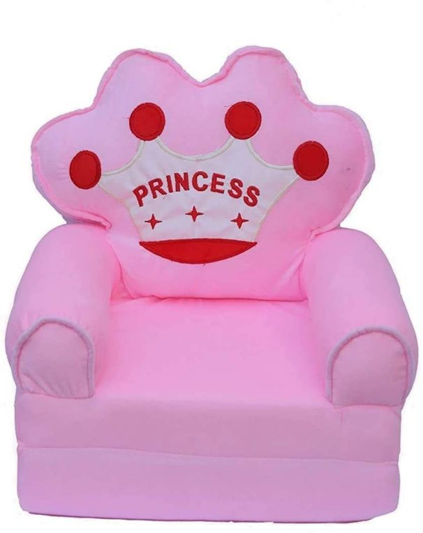 COROID Sofa Cum Bed Back SEAT Shape Imported Soft Toy Chair for Kids (Age - 0-2 Years) (Pink) at Rs.699