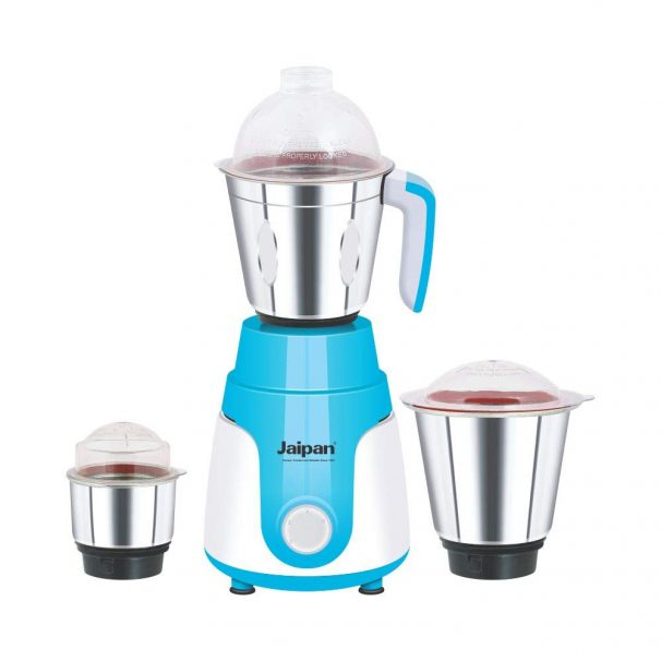 Jaipan Mixer Grinder Mega Star (Blue) 550W:: 3 Heavy Duty Stainless Steel Jars at Rs.1398