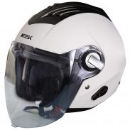 Steelbird SBA-3 R2K Classic Open Face Helmet (Large 600 MM, White with Plain Visor) at Rs.999