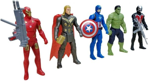 BKDT Marketing Action Figure Acengers (Movable Arms and Legs) at Rs.322