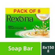 Rexona Coconut & Olive Oil Soap, 150 g (Pack of 8) at Rs.280
