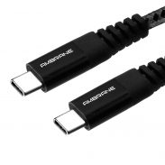 Ambrane Unbreakable 3A Fast Charging Braided Type C to Type C Cable – 1.5 Meter (RCTT15, Black) at Rs.199