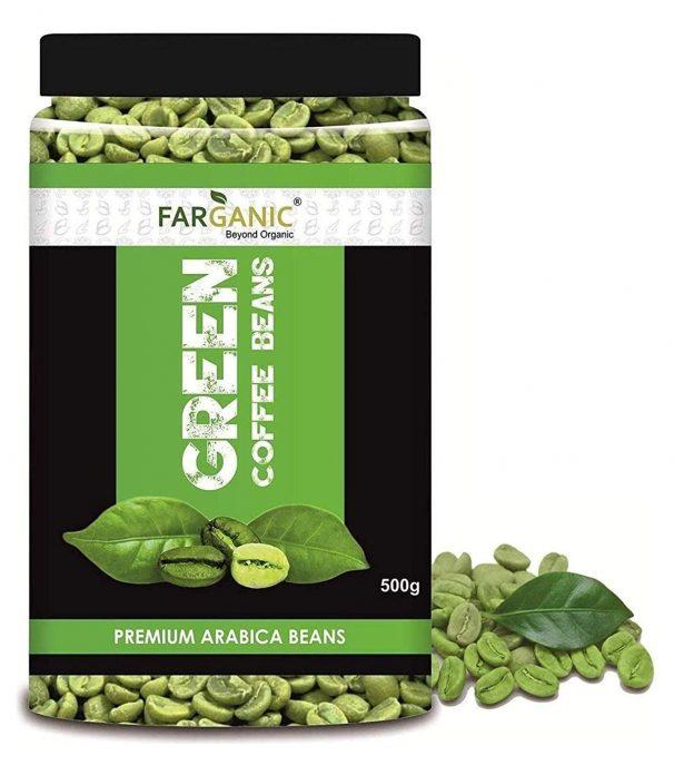 Farganic 100% Certified Organic Premium Arabica Green Coffee Beans (500GramPack) at Rs.409