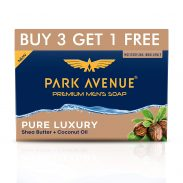Park Avenue Premium Men's Soap, Shea Butter+ Coconut Oil, 125g (BUY 3 GET 1) at Rs.113