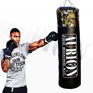 Aurion 4FEET-UNFILLED(ARMY) Leather Unfilled Heavy Punch Bag with Hanging Chain, 4 ft. (Army) at Rs.660