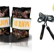Aurion Wrist Ankle Weights Resistance Strength Training Exercise Bracelets Straps Gym with Skipping Rope at Rs.490