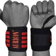 "AURION Wrist Wraps 19"" Professional Grade with Thumb Loops - Wrist Support Braces for Men & Women at Rs.149"