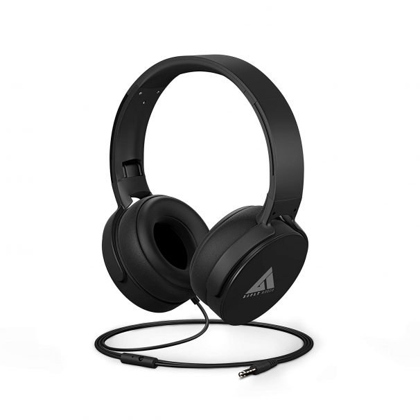 Boult Audio Bass Buds Q2 Over-Ear Wired Lightweight Stereo Headphones, Long Cord (Black) at Rs.599