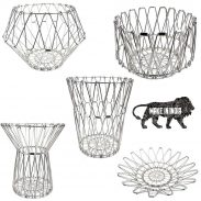 SRJMH™ Multipurpose Stainless Steel Folding Fruit and Vegetable Basket Stand for Kitchen/Dining Table/Center Table/Home (8 Shapes) at Rs.298