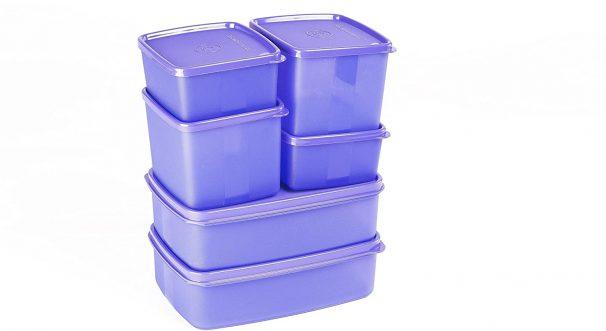 Signoraware Smart Plastic Fridge Container Set, 6-Pieces, Violet at Rs.611