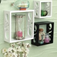 Home Sparkle 3 Cube Shelves (White and Black) at Rs.469