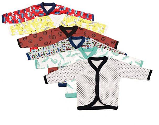 gopuja Soft Cotton Full Sleeve Jhabla for Babies at Rs.120